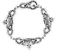 Sterling 8-1/4 Crown Toggle Bracelet - J337339