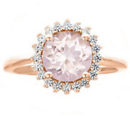 Premier 1.50cttw Round Morganite & Diamond Ring, 14K - J338239