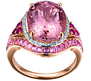 7.00cttw Morganite & Pink Sapphire Ring, 14K Rose Gold - J338539
