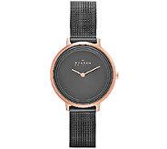 Skagen Womens Rosetone Gray Dial Watch - J339339