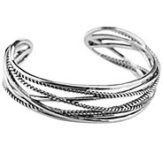 Carolyn Pollack Sterling Signature Rope Cuff - J341839