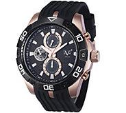 V19.69 Italia Mens Rosetone and Black Watch w/ Rubber Strap - J343939