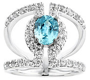 Sterling 3.00 cttw Blue & White Zircon Ring - J344239