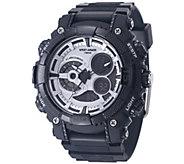 Wrist Armor C40 Multifunction Watch - Silvertone and Black - J345739