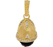 Judith Ripka 14K Clad Faceted Onyx & Diamonique Egg Enhancer - J346939