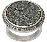 Shana Gulati Sterling Silver Diamond Slice & White Topaz Ring- Mimi - J347639