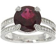 Judith Ripka Sterling Silver 2.80 cttw. Garnet Solitaire Ring - J348139