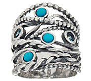 Sterling Silver Multi-gemstone Highway Ring by Or Paz - J348239