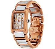 As Is Judith Ripka Stainless Steel Lexington Watch - J356339