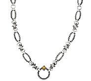 Barbara Bixby Strlg & 18K 22 or 36 Textured Link Necklace - J56339