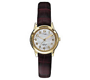 Timex Ladies Casual Watch with Brown Croco Strap - J102240