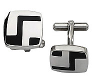 Forza Stainless Steel Enameled Cuff Links - J109440
