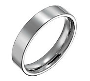 Forza Mens 5mm Steel Flat Polished Ring - J109540