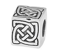 Prerogatives Sterling Silver Celtic Block Bead - J109940