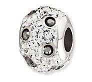 Prerogatives Sterling Spotted Black Crystal Bead - J113240