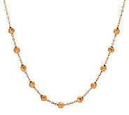 Vicenza Gold 18 Hammered Bead Station Necklace, 14K - J273640