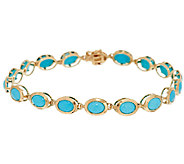Sleeping Beauty Turquoise 8 Tennis Bracelet 14K Gold - J292040