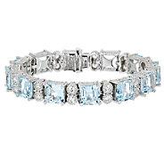 Judith Ripka Sterling Amethyst or Blue Topaz Bracelet 7-1/4 - J292240