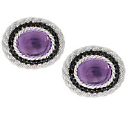 Judith Ripka Sterling Amethyst with Spinel Earrings - J292340