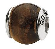 Prerogatives Sterling Tigers-Eye Gemstone Bead - J298240