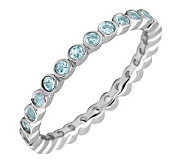 Simply Stacks Sterling Blue Topaz Eternity Stackable Ring - J298640