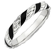 Simply Stacks Sterling Epoxy Enamel Twisted Ring - J308940