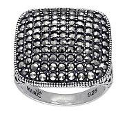 Suspicion Sterling Marcasite Cushion Ring - J311540