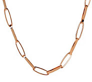 Bronze 36 Elongated Oval Link Necklace by Bronzo Italia - J311740