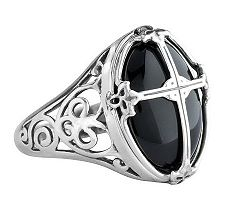 American West Sterling Cross Design Ring