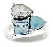 Sterling 4.15 cttw Multi-Gemstone Cluster Ring - J315940