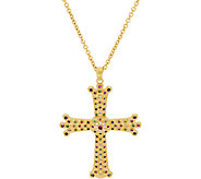 The Elizabeth Taylor Simulated Gemstone Cross Pendant w/Chain - J319840