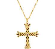The Elizabeth Taylor Simulated Gemstone Cross Pendant w/Chain - J319840