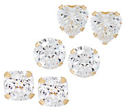 Diamonique 2.00 cttw Stud Earrings, 14K Gold - J323240