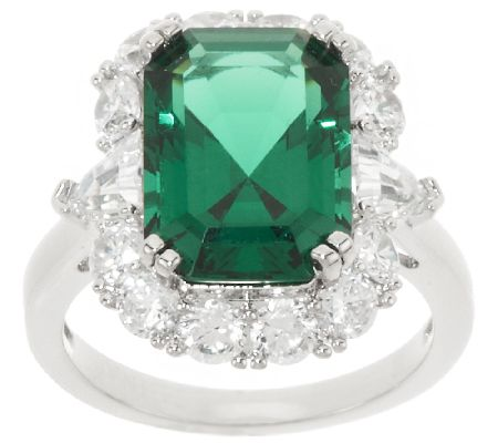 the elizabeth 6 10 cttw simulated emerald ring