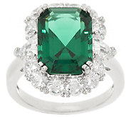 The Elizabeth Taylor 6.10 cttw Simulated Emerald Ring - J323340