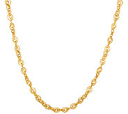 Veronese 18K Clad 18 Double Oval Link Necklace - J323740