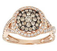 As Is Argyle Diamond 3/4 ct tw Pave Halo Ring 14K Gold - J324340