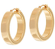 Oro Nuovo 1 Polished Round Hoop Earrings, 14K - J324640