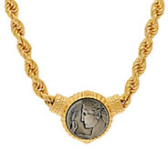 Judith Ripka 14K Clad 18 Verona Coin Station Rope Necklace - J326940