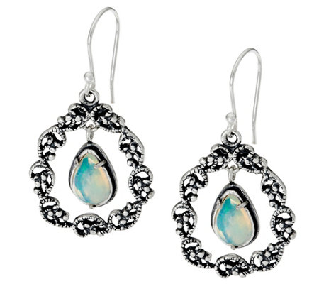 sterling silver 2 00 ct tw gemstone drop earrings by or