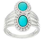 Sleeping Beauty Turquoise Sterling Silver Elongated Ring - J329540