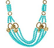 As Is Luxe Rachel Zoe Multi Strand Bead & Charm Necklace - J330140