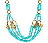 As Is Luxe Rachel Zoe Multi Strand Bead & Charm Necklace - J330140