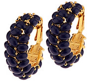 As Is Kenneth Jay Lanes Signature Cabochon Hoops - J330640