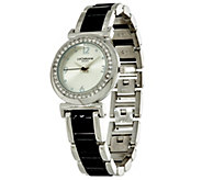 As Is Liz Claiborne New York Simulated Ceramic Bracelet Watch - J330740