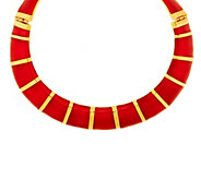 As Is Kenneth Jay Lanes Goldtone and Enamel Collar Necklace - J330840