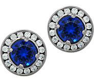 Diamonique & Simulated Gemstone Stud Earrings, Sterling - J331340