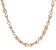 As Is Bronze 18 Double Status Link Necklace by Bronzo Italia - J331740