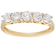 As Is 1.00 ct tw 5 Stone Diamond Band Ring, 14K Gold by Affinity - J332240