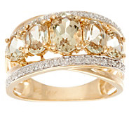 Csarite Oval 5-Stone & Diamond Wide Band Ring, 14K 2.40 cttw - J335740